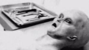 Foto del supuesto alienígena capturado, que resulto ser fraudulenta.